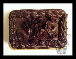 Modeling Chocolate Roses Cake Up by CakeUpStudio