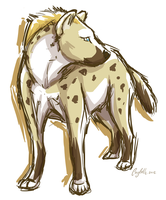 Sketchy yena by Cayleth