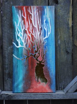 Impressionistic elk by Ashes-of-the-valiant