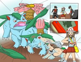 Leaf Transform into Venusaur by Jonesycat79