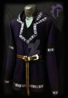Purple and black viking tunic for men by Feral-Workshop
