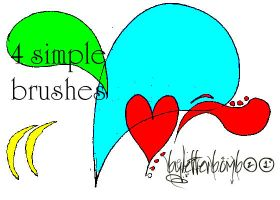 4 simple brushes by Letterbomb21
