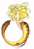 Golden Mermaid '04 by DangerFaerie
