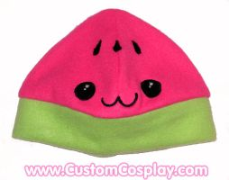 Kawaii watermelon cap by The-Cute-Storm