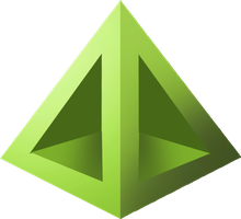 Green Pyramid Icon by Tylertut