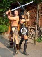 Conan and Xena by KingofCologne
