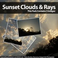 Sunset and Rays Stock Pack by KeepWaiting