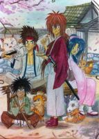 kenshin team and their pokemon by eve1789