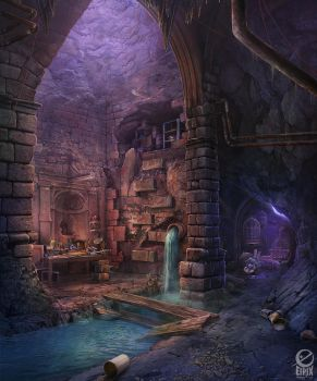 Alister's Lair - game scene by Gell4