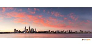 Perth Skyline Sunset by Furiousxr