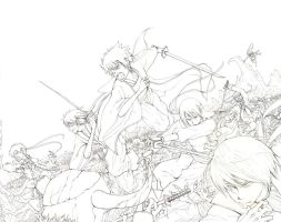 Gintama- lineart by koulin
