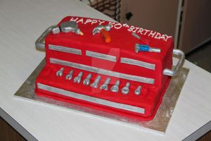 Tool Chest Cake by The-Ice-Flower
