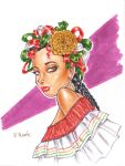 Mexican Girl in Copics by RichardHuante