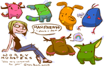 Worry Monster Concepts by katezila