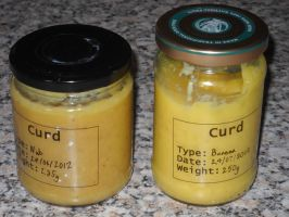 Banana Curd and Nut Curd by Bisected8