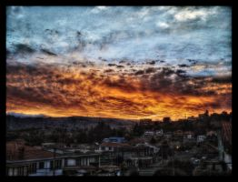 sunset Achumani V.4 HDR by zentenophotography