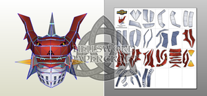 Digimon Helmets Royal Knight Edition: Dukemon by HellswordPapercraft