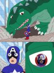 Captain America and Godzilla by MCsaurus