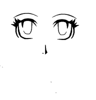 manga eyes and nose pratice by monkiesonunicyclesXD