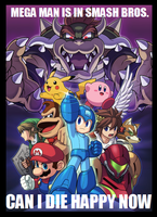 You got a Mega Man in my Smash Bros. by Kirby-Kid