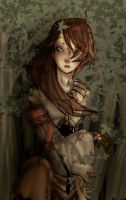 Girl in wood - collab by Yoru92
