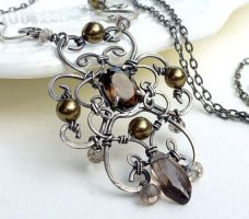 Wire wrapped sterling silver celtic cross necklace by CreativityJewellery