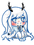 Commission-  Chibi Lilliane (SkellyGhost) by fumikoon