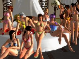 Dead or Alive 5 - sexy group Photo by Dantefreak
