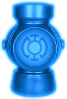 Glowing Blue Lantern Battery by KalEl7