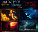 3rd PSD PACK - Space Adventure by maagg