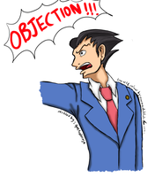 Collab with Spectral-Ninja - Phoenix Wright by nurmuzdalifah