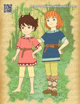 Ronja and Birk - ghibli by Richmen
