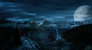 the forgotten valley | matte painting by ArkanumTenebrae