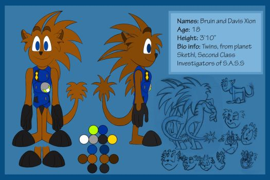 Bruin and Davis in uniform (Ref sheet) by Alvah-and-Friends