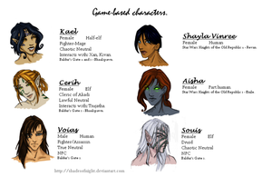 Game-based Characters by ShadesofNight