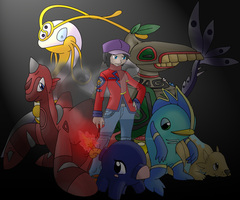Rival - Spin and his team... by Pokemon-Mento