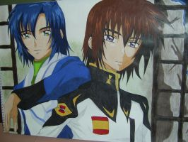Kira and Athrun by Julika-Nagara
