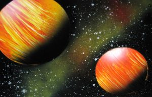 Space Painting 005 by Christine-Eige