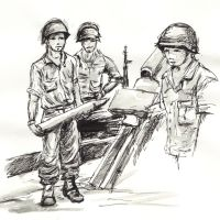 WWII Soldiers by knyttets