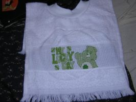 Good Luck Bear Bib by zentangerine