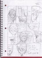 Just a Wall Scene Part 2(comic practice) by pallaza