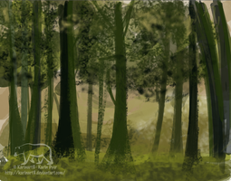 Forest Speed Painting by Karinart8