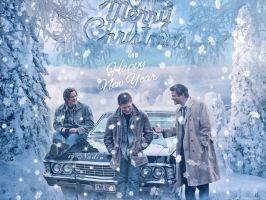 Merry Supernatural Christmas and Happy New Year by Nadin7Angel