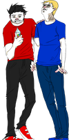 Comission - Bro and Jeff by tea--cup