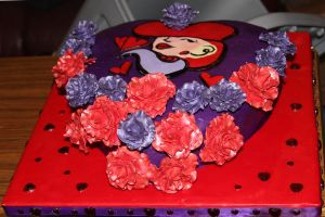 Red Hat Society Cake by LabyrinthFairie