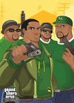 Gta Sanandreas Grove Street Guys Grove 4life by dmtr1981