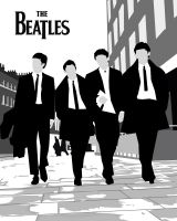 The Beatles BW by bassplayer264