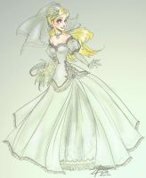 wedding Dress by oasiswinds