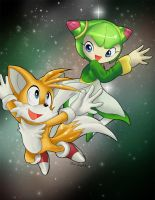 Collab: Tails and Cosmo by lovely-kunoichi