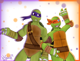 .:TMNT:. Brother buddys by xX-Jarira-Xx